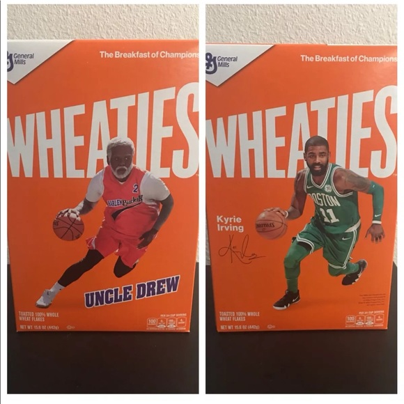 100% authentic fa049 4bc2e Wheaties uncle drew / Kyrie Irving cereal box NEW NWT